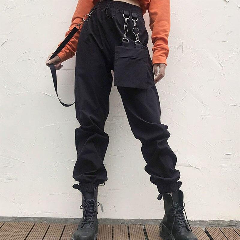 women pants Irregular Removable Casual party fashion gothic high waist loose office Hip Hop Pants plus size bottom harajuku