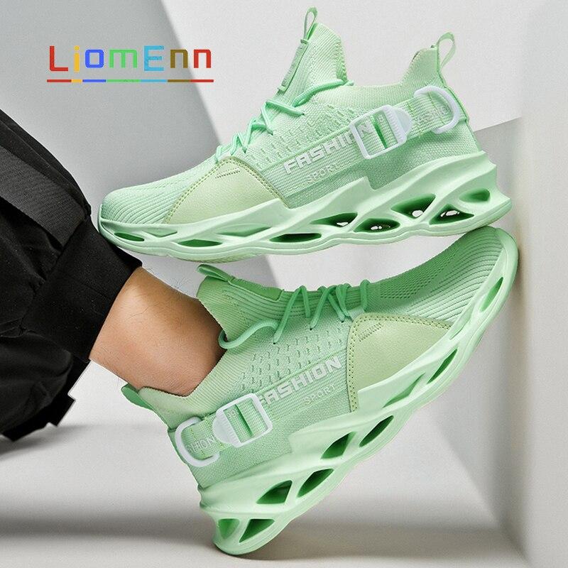 الصيف المرأة أحذية رياضية 2021 الاحذية أحذية رياضية النساء التنس الرجال شبكة أبيض أسود أخضر فاتح أصفر حذاء رياضة الفلكنة حجم 46