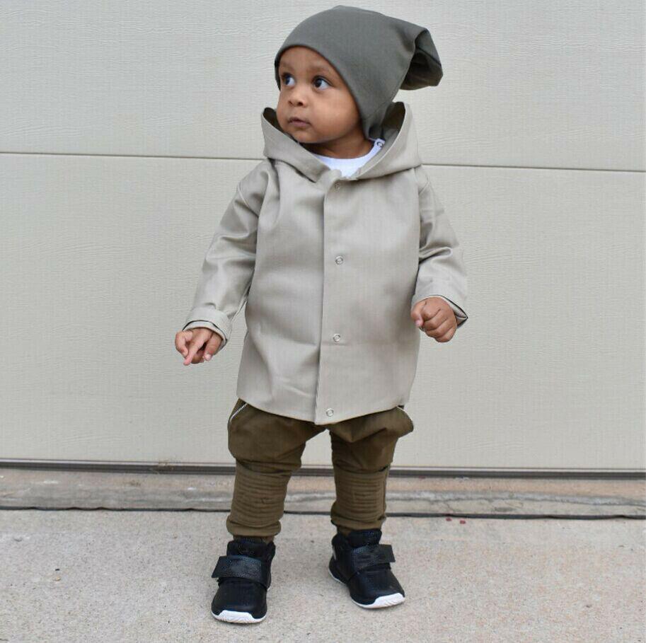 Prendas de Vestir rompevientos para niños recién nacidos con chaqueta con capucha abrigo para correr otoño ropa para 0-24 meses