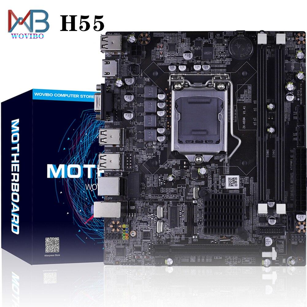 H55-اللوحة الأم لسطح المكتب ، مكون الكمبيوتر ، LGA 1156 DDR3 ، معالج I3 ، I5 ، I7 ، Xeon ، x3470