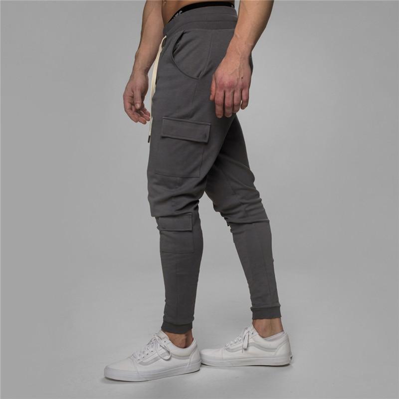 Pantalones deportivos para hombre, pantalones deportivos de marca para hombre, pantalones de chándal ajustados casuales, pantalones de chándal múltiples para hombre, pantalones de chándal más vendidos