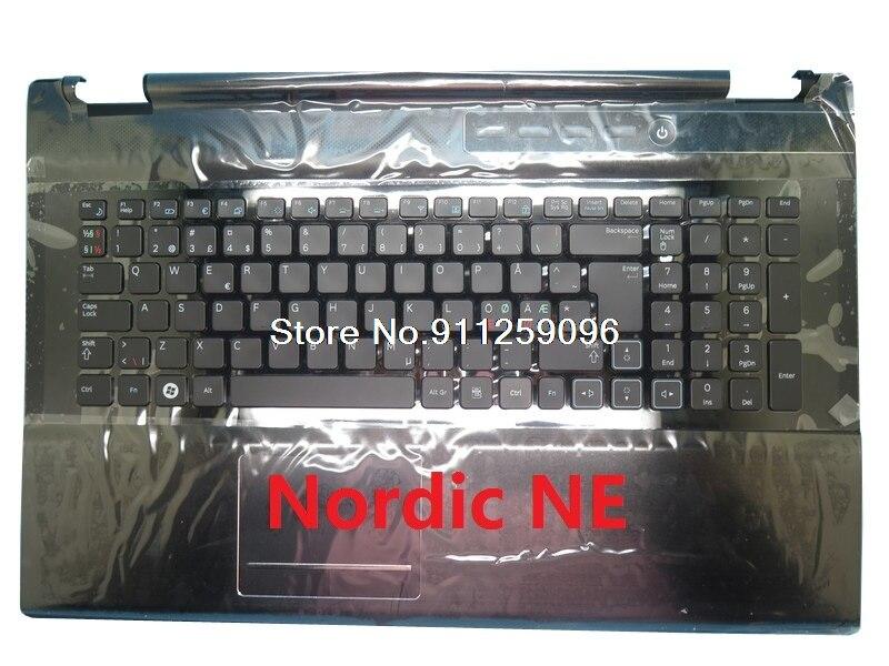 كمبيوتر محمول PalmRest ولوحة المفاتيح لسامسونج RF712 الشمال NE الغطاء العلوي مع الخلفية لوحة اللمس المتكلم جديد