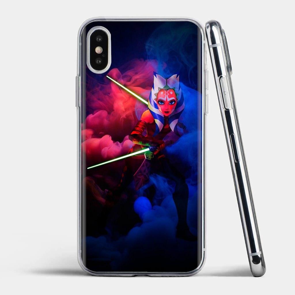 Funda de silicona de dibujos para teléfono Huawei Mate Honor 4C 5C 5X 6X 7 7A 7C 8 9 10 8C 8X 20 Lite Pro movie Ahsoka Tano