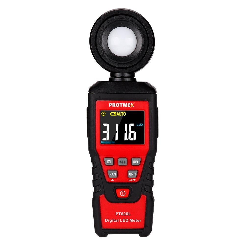 Protmex Digital Lux Light Meter, PT620L LED Lumenmeter Lux/FC Meters Luminometer