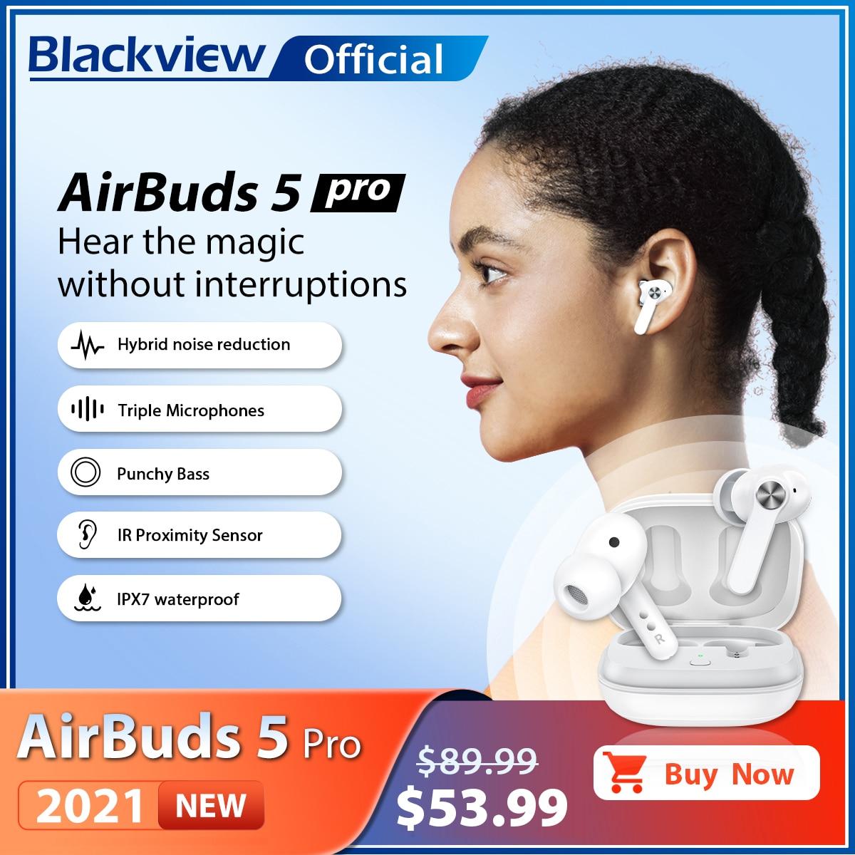 TWS-наушники Blackview AirBuds 5 Pro с поддержкой Bluetooth и защитой класса IPX7
