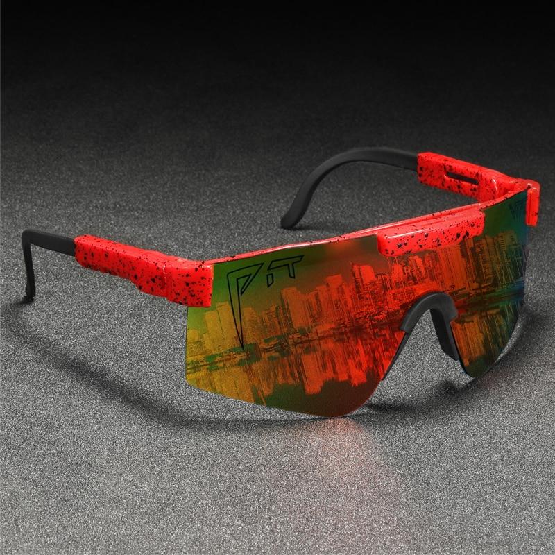 Víbora sobredimensionado polarizado Gafas de sol hombres de una sola pieza de...