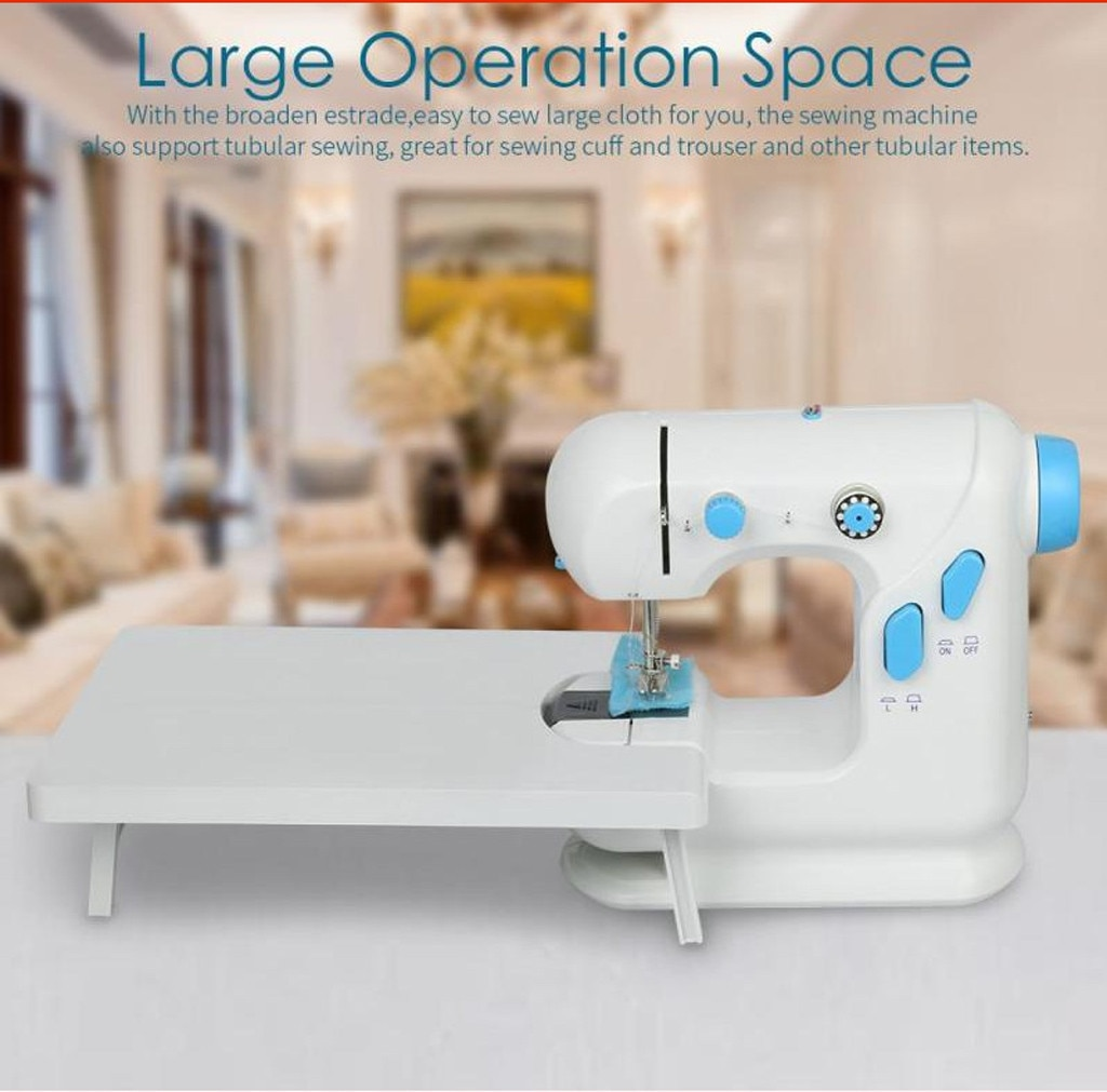 Máquinas de coser a Pedal de mano dos velocidades rosca doble multifunción máquina de coser eléctrica de rebobinado de la banda de rodadura automática #30