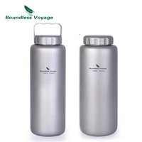 boundless voyage titanium sports water bottle outdoor camping cycling tea coffee wide mouth canteen with handle 36oz1050ml