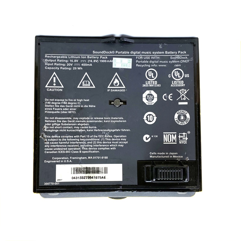 Original Battery For BOSE SounDock Soundlink Air 350160-1100 002 300770-001 Used Phone High Quality In Stock enlarge