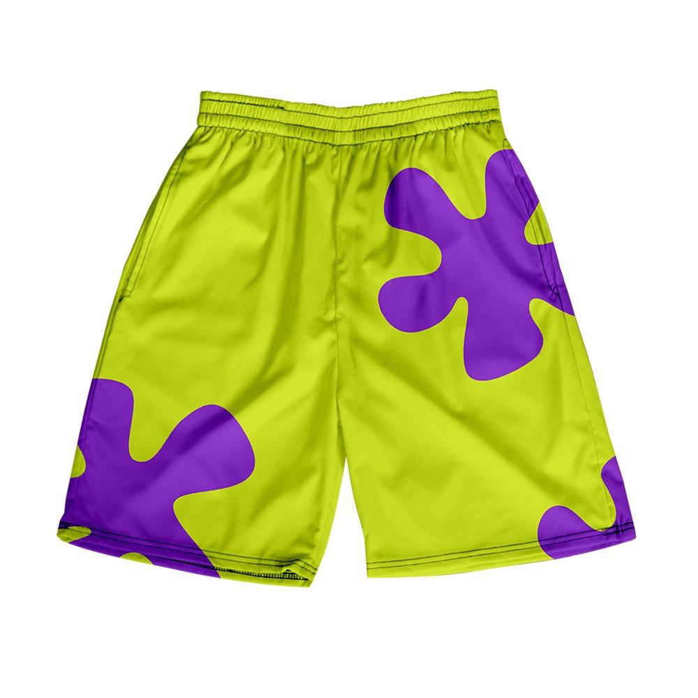 3D Anime Patrick Star Board Shorts Trunks Summer New Quick Dry Beach Swiming Shorts Men Hip Hop Short Pants Beach clothes