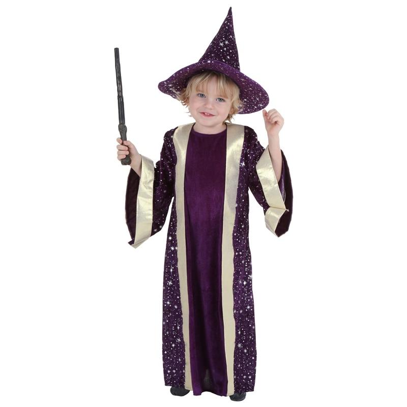 Disfraz de magia de lujo púrpura chicos Wizard ropa de disfraz de Halloween cómodo niños tema Deluxe fiesta de cumpleaños mono fiesta