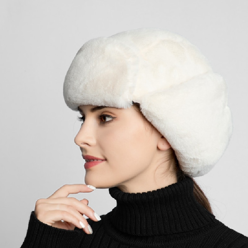 Cálido gorro de Aviador ruso grueso 2019, gorros de aviador de Invierno para mujer, gorros de terciopelo para hombres, gorros de invierno con orejeras para mujer
