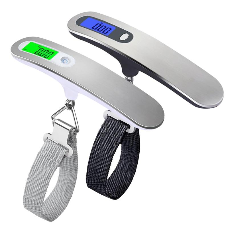 Ручные весы с ремнем, 50 кг/110 фунтов, ЖК Цифровые подвесные весы для путешествий, чемоданов, подвесные весы, электронные весы