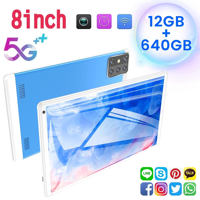 جديد 8 بوصة هدية 8G + 256GB اللوحي TF بطاقة بلوتوث العالمي كمبيوتر لوحي مزود بخدمة الواي فاي أندرويد 9.0 10 عشرة النواة ثنائي البطاقة اللوحي أندرويد