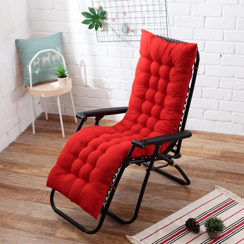 Nuevo cojín suave largo para tumbona de jardín, cojín mecedora plegable espeso, cojín largo para silla, cojín almohadilla para asiento 50