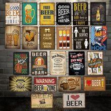 Décoration de bon bière   Panneaux métalliques, peintures en fer personnalisées, décoration de Bar PUB