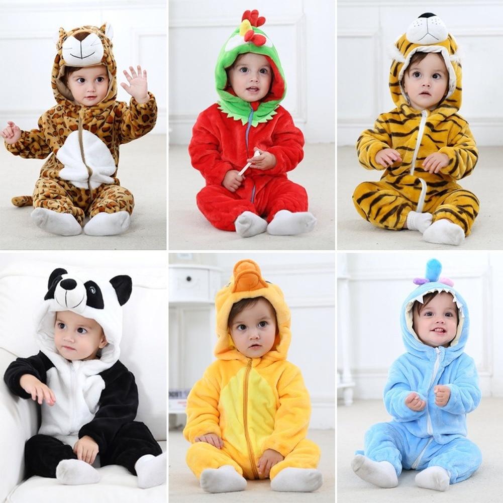 Детские Комбинезоны теплый комбинезон одежда для малышей с принтом; Одинаковая одежда; Ползунки; Одежда для новорожденных фланелевые aAnimal к...