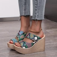 fashion 2021 new summer womens sandals peep toe shoes woman high heeled platfroms casual wedges for women high heels shoes