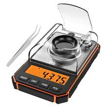0.001g אלקטרוני דיגיטלי סולם נייד מיני בקנה מידה דיוק מקצועי כיס סולם מיליגרם 50g כיול משקולות