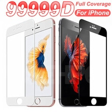 9999D Safety Full Protection Glass For iPhone 7 8 6 5 5S SE 2020 Tempered Screen Protector iPhone 6