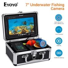 "Eyoyo EF07 Fish Finder Underwater Fishing Camera peche 7"" Video Underwater camera fishing DVR Infrared Lamp ICE Fish fischfinder"
