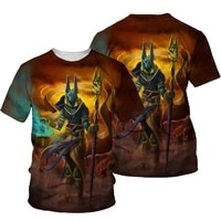 summer fashion 3d printing anubis o neck t shirt summer trend comfortable sports all match casual short sleeved top 100 6xl