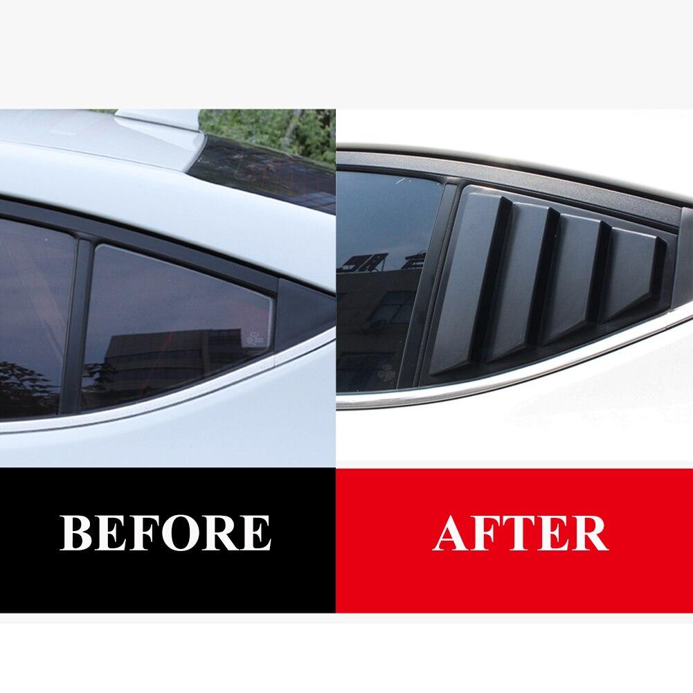 Черные боковые вентиляционные решетки 2017-2019 для заднего стекла Hyundai Elantra