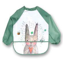 Bavoirs de dessin animé pour bébé   Tablier à bavettes réglables, chiffons dalimentation à manches longues, accessoires pour bébés, trucs mignons, bavoir danimaux pour tout-petits