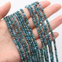 2021 best selling natural stone semi precious stone round apatite faceted bead making diy necklace bracelet size 3x4mm gift
