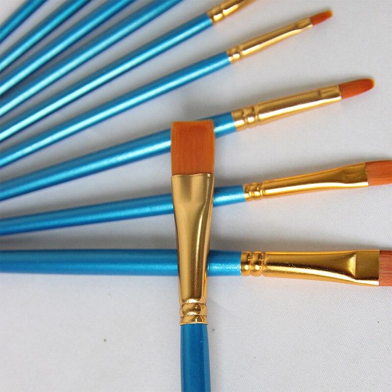 Pincel de Arte de nailon Para Pintura en forma de abanico, Pinceles...