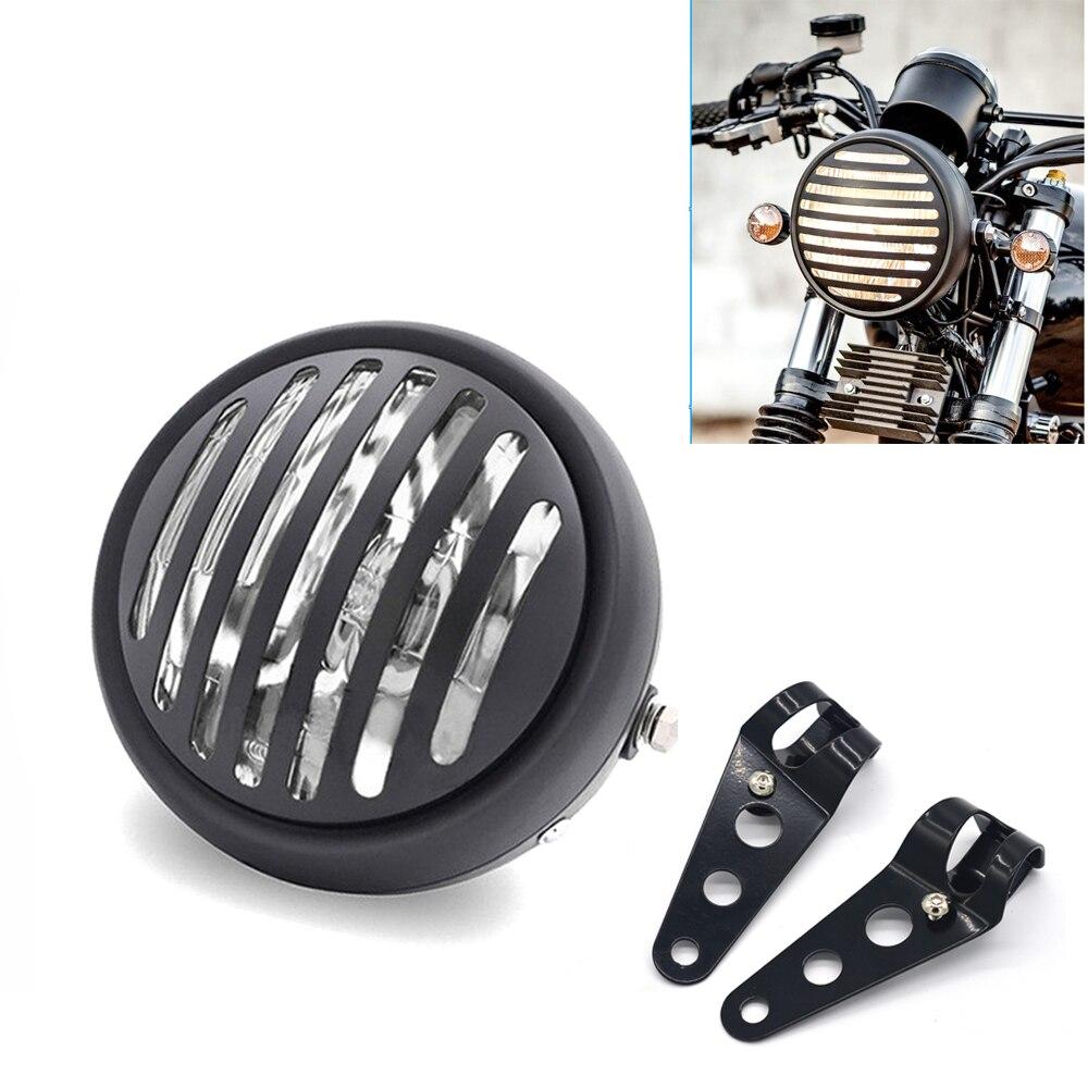 "12V 6.5"" Motorcycle Refit Retro Headlight With Bracket Round Spotlight Head light For Chopper Bobber Cafe Racer Touring Bikes"