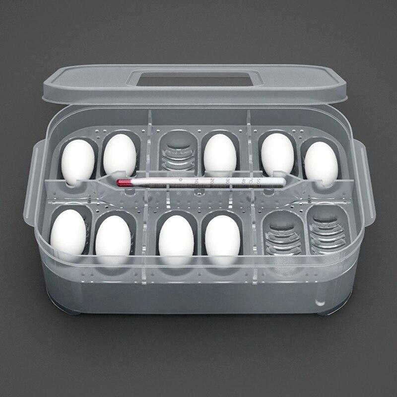 Plástico prático 12 grades de plástico répteis bandeja incubadora ovo lagarto cobra ovos caixa incubadora ferramenta terrários