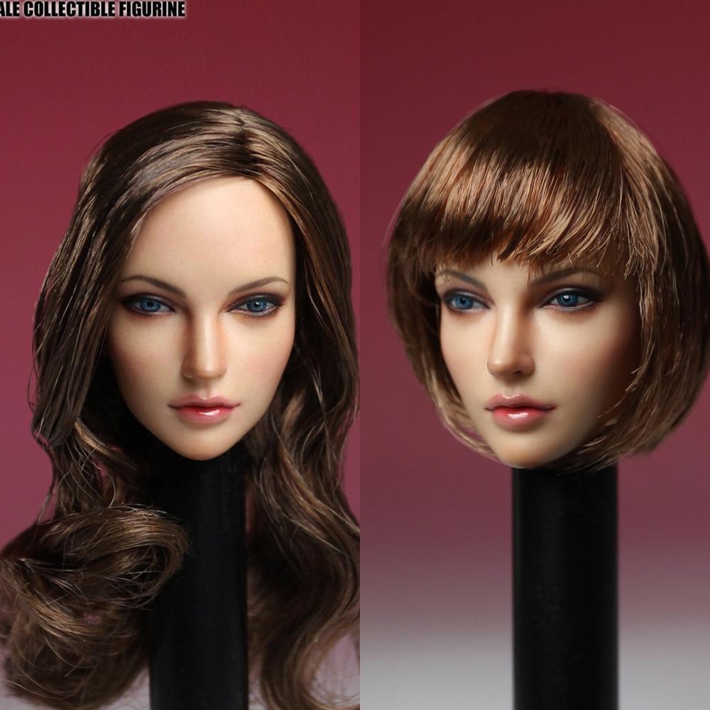 1/6 SUPER DUCK SDH005-A/C American European Women Head Model fit PH pale color body