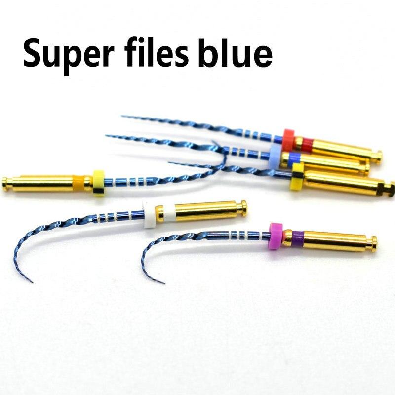 Стоматологические роторные супер-пилки, синие роторные пилки, нити, активация тепла, эндонтические пилки, используются для корневых каналов