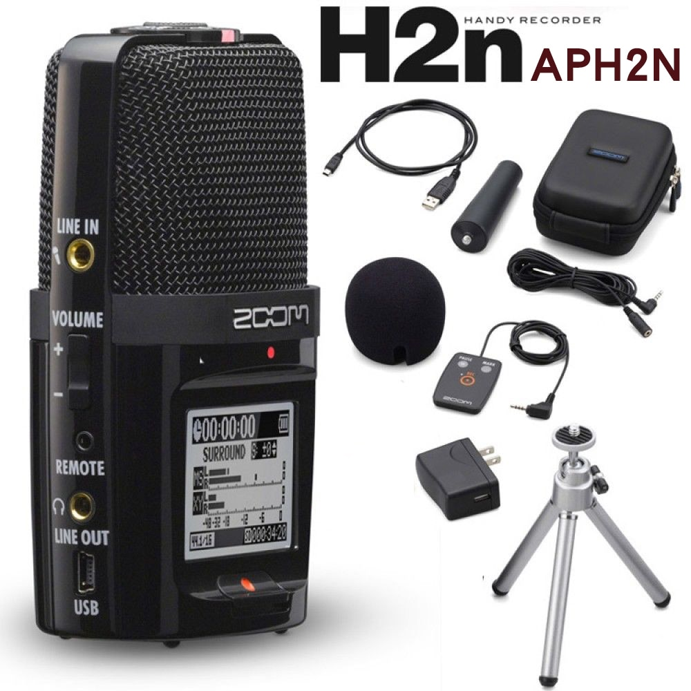 Zoom-مسجل عملي H2N ، أصلي ، محمول ، رقمي ، تسجيل صوتي ، ستيريو ، ميكروفون PK Tascam