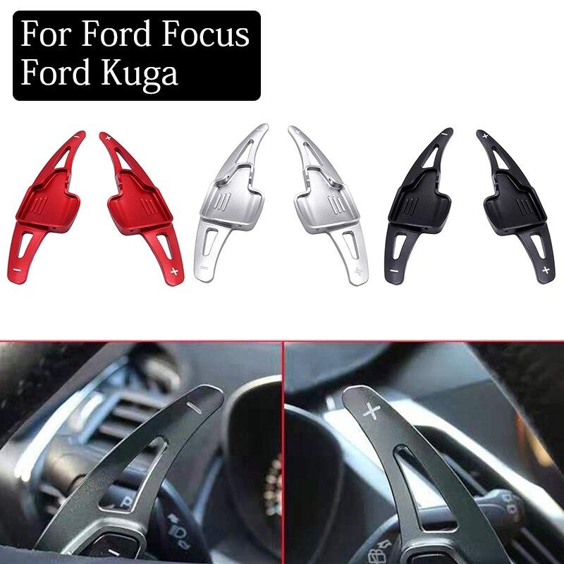 1 par de alumínio volante shift paddle shifter extensão interior do carro para ford focus 2015-2018 ford kuga 2016-2019