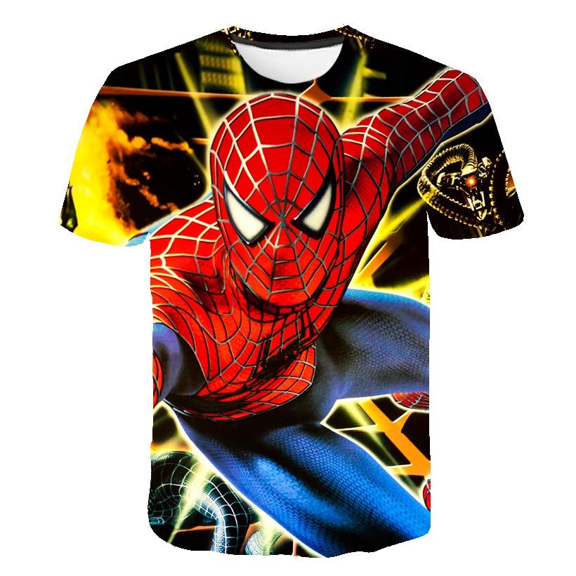 2021 Summer Mαrvel- Spidermαn T Shirt Kids Boys Clothes Summer Short Sleeve Girls Tops Tees Children Clothing Kid Girl Tshirts