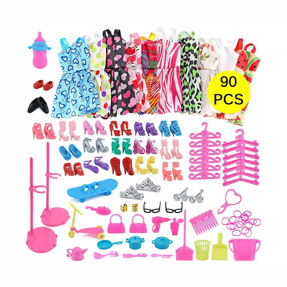 IKAUOIE 90 Uds ropa paquete de 10 ropa 75 Uds accesorios para...