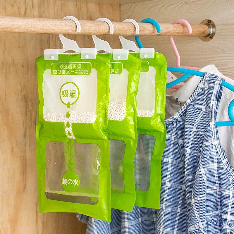 Bolsa absorbente para armario colgante, agente de secado de humedad colgante de uso familiar, bolsas deshumidificadoras de molde