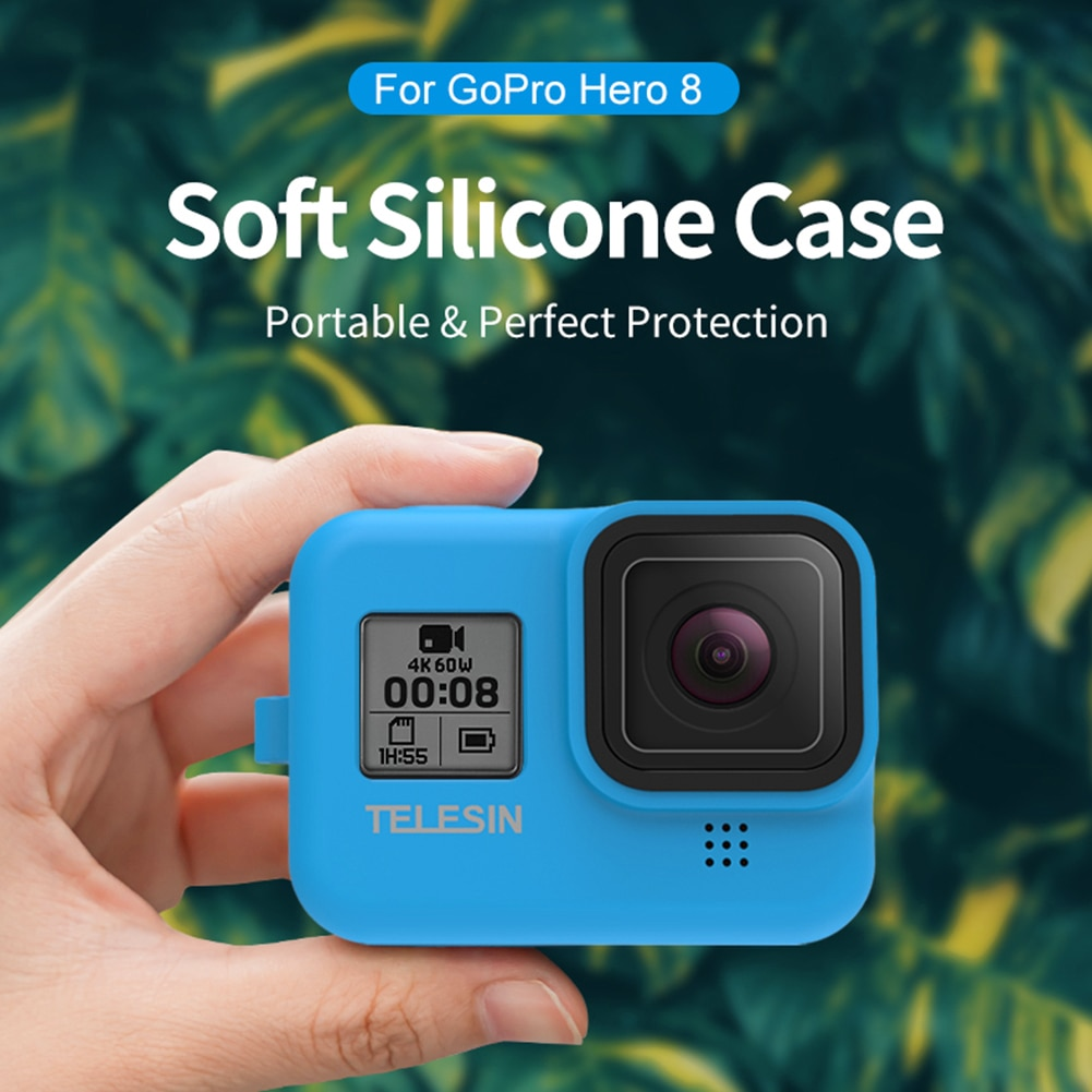 Silicone Protective Case Sleeve Sport Camera Lens Cover Safety Wrist Strap Kit Sports Camera Accessaries Supplies Parts