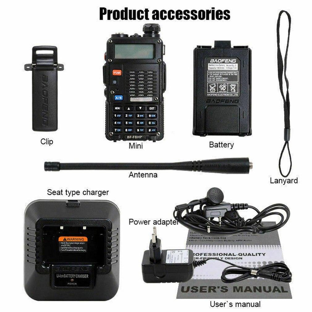 De Baofeng F8HP Dual-banda de 136-174/400-520 Mhz FM jamón dos vías de Radio transceptor F8 9700 UVB5 BF-A58S Walkie Talkie portátil 128CH