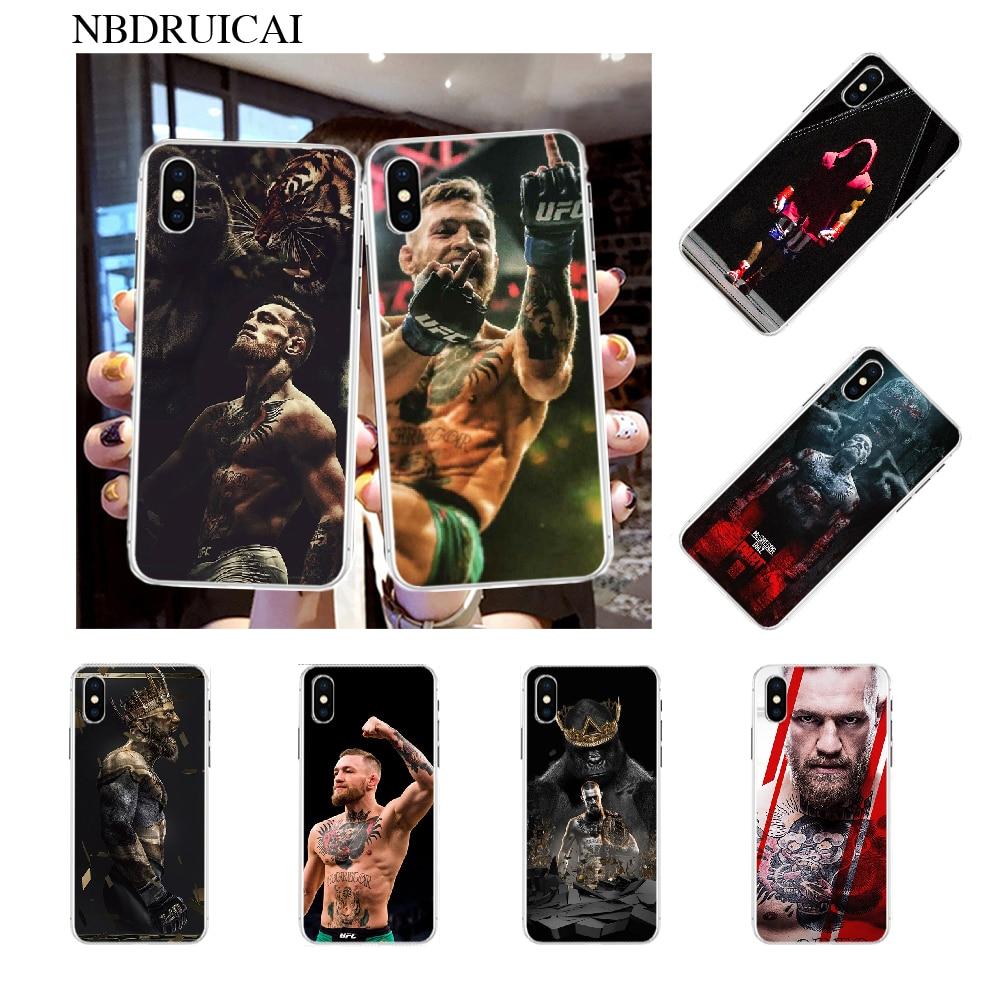 NBDRUICAI UFC Conor McGregor, carcasa suave, funda de teléfono para iPhone 11 pro XS MAX 8 7 6 6S Plus X 5S SE XR, funda
