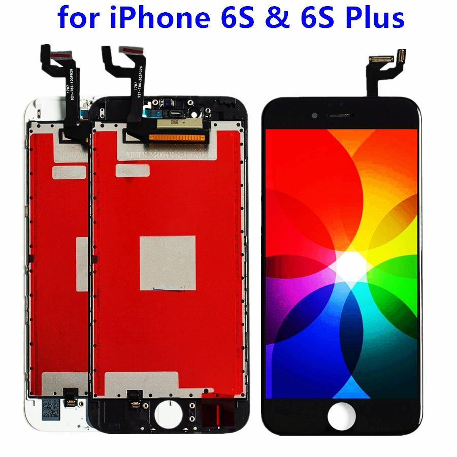 La mejor pantalla LCD para iphone 6s 6S Plus pantalla LCD + digitalizador táctil montaje completo para iPhone 6 7 8 reparación y reparación de teléfonos móviles