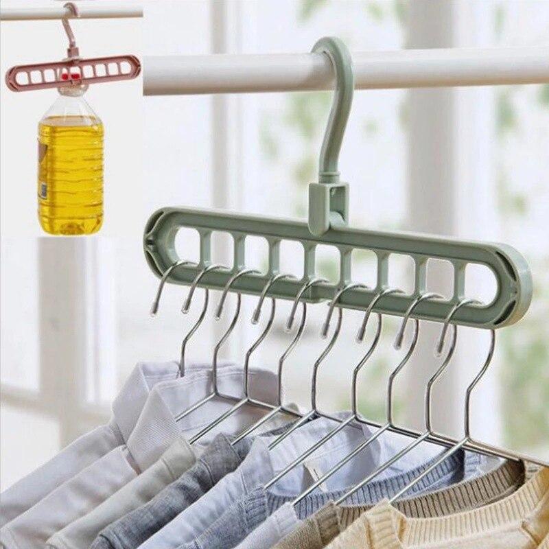 Colgadores de ropa multifuncionales, perchas de almacenamiento para ropa, tendedero para ropa, perchas para ropa, bufanda, estante de almacenamiento para el hogar