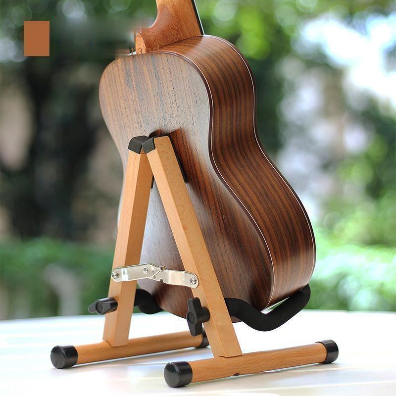 Wooden Guitar Stand Folding Frame Detachable Ukulele Stand Solid Wood Violin Acoustic Electric Shelf Guitar Accessories enlarge