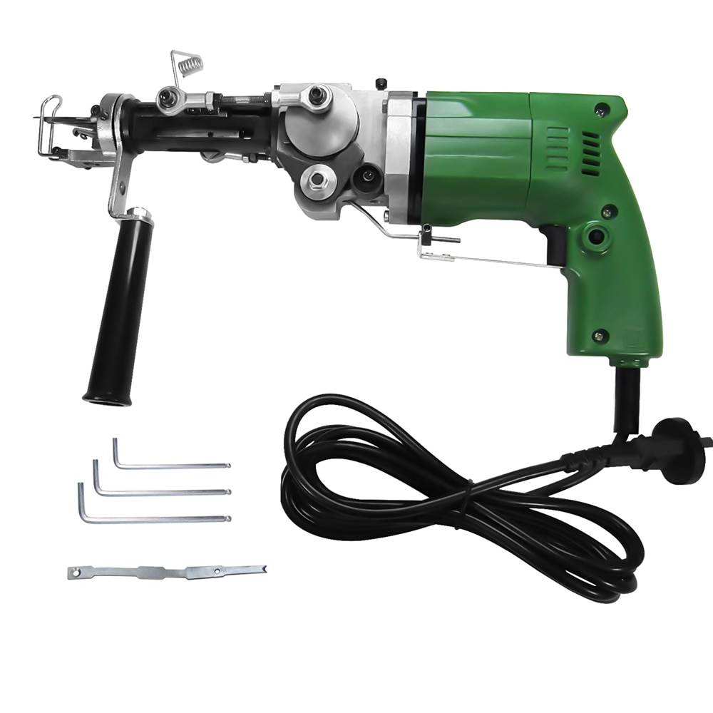 220V 2400RPM 2 In 1 Electric Rug Tufting Machine Wall Tapestries Hand Tufting Gun Can Do Both Cut Pile And Loop Pile Eu Plug enlarge