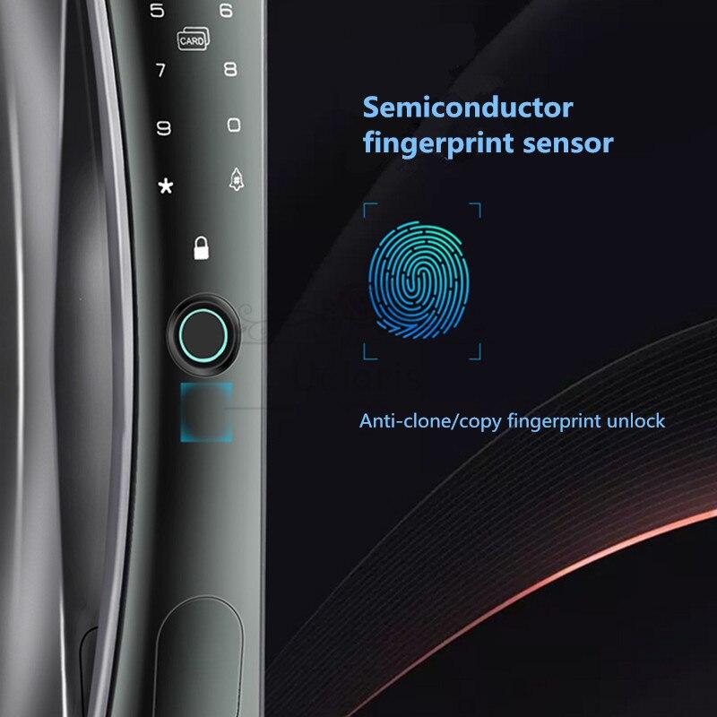 New N3/N3S/N5 Security Smart Home Door Lock Fingerprint Locks Cat Eye Remote APP Camera Electronic Cerradura Inteligente