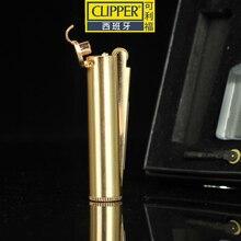 Espagne Original Clipper métal complet meule kérosène briquet silex allumage pratique et sûr coupe-vent gratuit briquet
