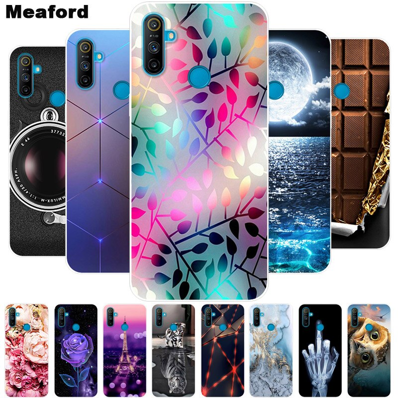 For Oppo Realme C3 Case Shockproof Soft silicone TPU Back Cover For Oppo Realme C3 Phone Cases Realm