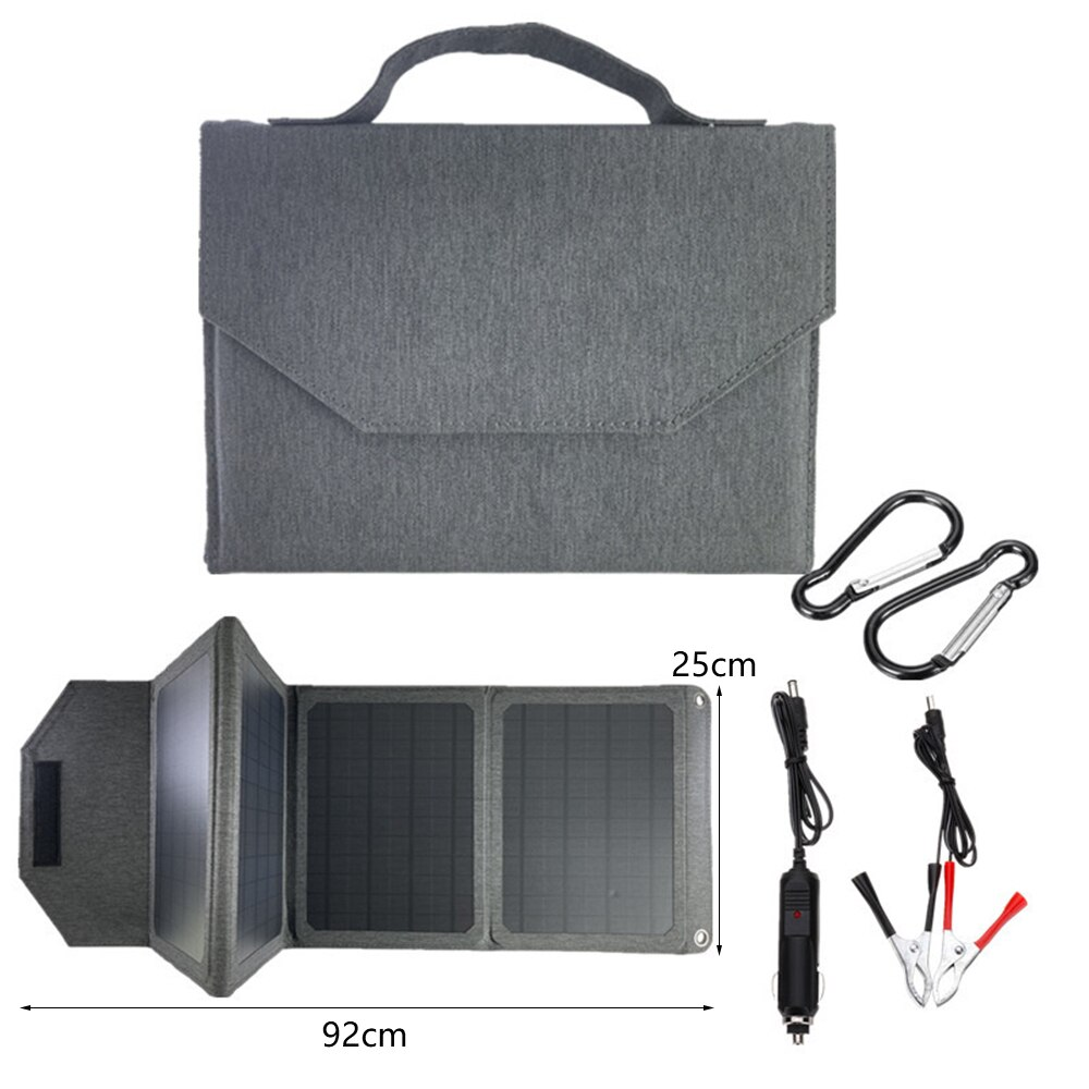 40W Solar Folding Charger 12V/5V USB Output Portable Waterproof Solar Panels Mobile Power Battery Charger for iPad Smartphones